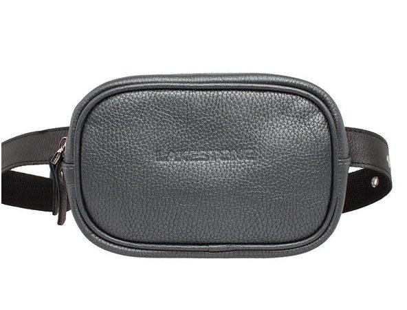 Кожаная сумка на пояс Lakestone 3617, серебро