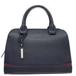 кожаная женская деловая сумка