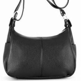 сумка черная кожаная женская через плечо