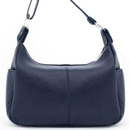 синяя кожаная женская сумка купить со скидкой