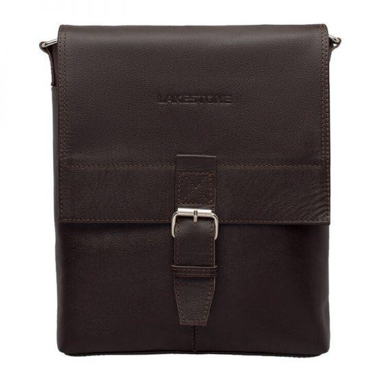 сумка мужская кожаная коричневая