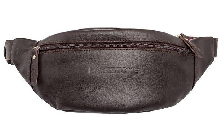 Кожаная сумка на пояс Lakestone 3624, 26*10, коричневая