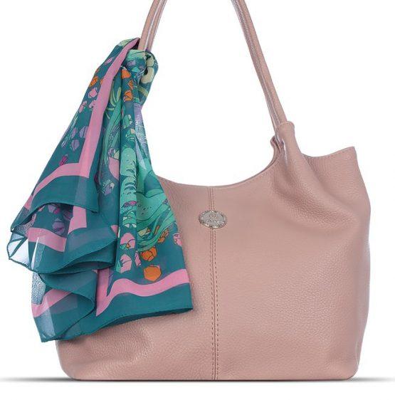 сумка пудрового цвета