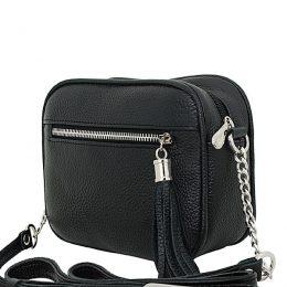 черная маленькая кожаная сумка