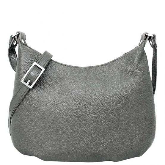 серая кожаная сумка