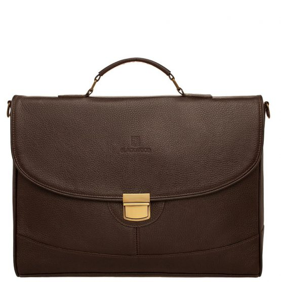 Мужской кожаный портфель для ноутбука