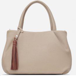 сумка бежевая женская кожаная купить
